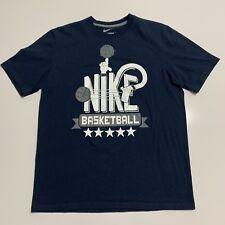 Men's Nike Basketball Xl Standard Fit Short Sleeve T Shirt Navy Blue *
