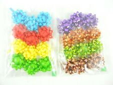 Mini Gift Wrapping Bows Self Stick Bows All Occasions Multi color 24 pcs. New