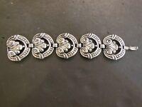 Vintage Silver Tone Chunky Retro Bracelet