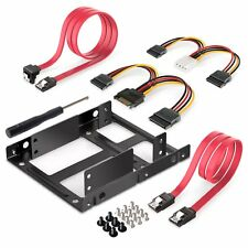 """Inateck 2x 2.5"""" SSD to 3.5"""" Internal Hard Disk Drive Mounting Kit Bracket Cable"""