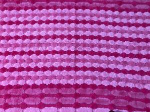 Vintage Mid Century MCM MOD Area Rug Shades Of Pink 36x57 Fringe