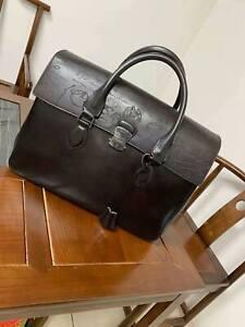 Berluti  Large Leather Briefcase Bag Hand Bag Laptop Bag
