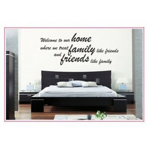 HOME FAMILY LIVING ROOM WALL STICKER ART DECALS QUOTE