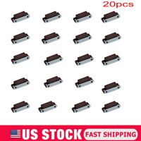 Magnetic Door Catches Cupboard Wardrobe Cabinet Latch Catch Brown 20PCS