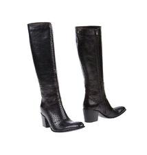 Gianni Barbato Leather Boots Leder Stiefel EU 36 darkbrown dunkelbraun