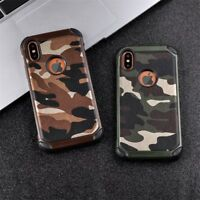 Hybrid Shockproof Army Camo 2 in 1 Armor Case Cover For iPhone XS MAX XR X 8 7 6