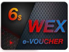 ----> 6 $ USD WEX KOD / E-VOUCHER