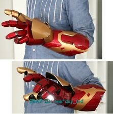 Cattoys 1:1 Iron Man mk42 Arm with Laser Device+palm light+sound Effect Hero Toy