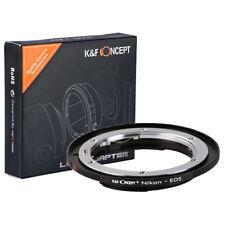 K&F Mount Converter Nikon F Lens on Canon EOS Mount