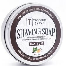 Taconic Shave  Bay Rum Soap Handcrafted Shaving Soap - Made in USA