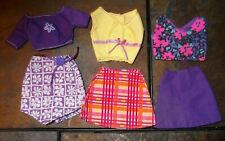 Barbie Doll Clothes - 3 Vintage Skirts w/ 3 Matching Tops