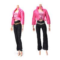 3 Pcs/set Fashion Handmade Coat Pant Vest for  Doll Best Gift Toys tb