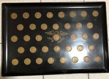 Vintage Couroc of Monterey Presidents Coin Tray - Washington through Nixon