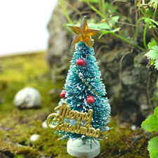 2PCS dollhouse miniature Christmas Tree  Pine Tree  Desktop Decor doll accessory