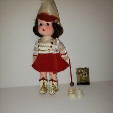 "Vintage 1950s R+B ""Littlest Angel"" Jointed Knee Walking Doll 10.5"" tall Orig Box"