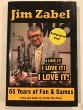 "GO HAWKS!! Signed Jim Zabel ""I Love It, I Love It, I Love It""!"