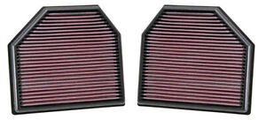 K&N Replacement Air Filter for BMW M3 M4 M5 M6 3.0 L6 4.4 V8 2 Filters 2011-2020