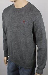 Polo Ralph Lauren Grey Crewneck Sweater Burgundy Pony NWT