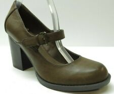 MIA Brown Mary Jane Dress Pumps Heels Buckle Strap 8.5 NEW