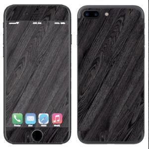 Skin Decal Vinyl Wrap for Apple iPhone 7 PLUS / Black Wood