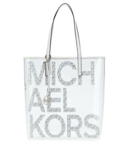 NWT Michael Kors Clear/White Tote Bag