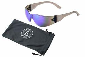 PiWear Sonnenbrille - Dallas BM - grau transparent, blaue Gläser