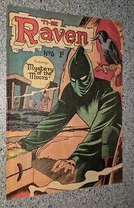 The Raven #6 1962 RARE Australian Silver Age Comic Book