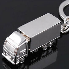 Mini Fashion 3D silver color Truck Key Chain Car  Symbol Key Ring  Free Shipping