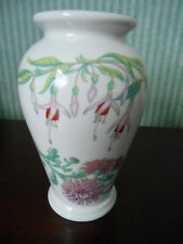 PORTMEIRION RARE FLOWERS OF THE YEAR VASE SUSAN WILLIAMS ELLIS MADE IN ENGLAND
