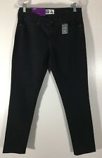 Women's Black Jeans Misses Size 10S Levi Strauss Signature Stretch Skinny New