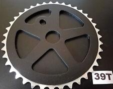 "39T ALUMINUM BMX SPROCKET FOR SINGLE/1PC CRANK 1/2""x1/8""x39T CNC MACHINED *BLACK"
