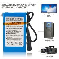 DC-12480 12V 4800mAh Portable Super Rechargeable Li-ion Battery Pack UK/EU Plug