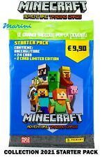 COLLECTION PANINI MINECRAF TRADING CARDS STARTER PACK RACCOGLITORE +26 CARD 2021