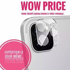 Verre trempé protège objectif caméra arrière pour iPhone 11 Pro Max 12  Mini 12