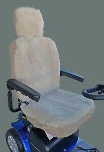 Mobility Scooter Sheepskin Seat Cover - Large (50cm high)