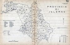 Provincia Salerno: Tutti i Comuni 1938: Anno XVI Era Fascista. Carta Topografica