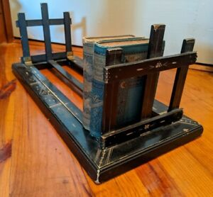 Antique Aesthetic Ebonized Eastlake Table Top Folding Book Stand Case