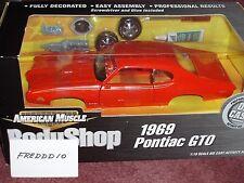 "ERTL 1969 PONTIAC GTO ""THE JUDGE"" BODY SHOP ASSEMBLY MODEL KIT 1/18 ORANGE"