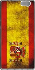 funda carcasa gel soft case ZTE Blade A506,bandera espana spain