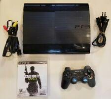Sony PlayStation 3 PS3 Super Slim 250GB CECH-4001B + MW3 + controller SEE VIDEO!