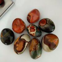 500g Natural Ocean Jasper quartz crystal stone polished palm stone healing