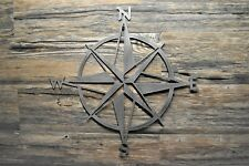 "20"" Nautical Star Compass Steel Wall Decor, Made in USA Metal wall hanging art"