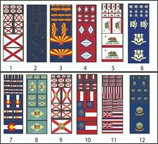 U.S State Flags 1/10 - 1/8 - 1/5 Scaled RC Stickers Traxxas Arrma Losi Redcat