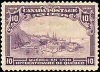 1906 Used Canada 10c F-VF Scott #101 Quebec Tercentenary Issue Stamp