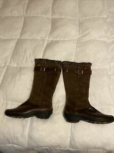 Merrell Tall Waterproof Fashion Boots, Brown, Womens Size 10