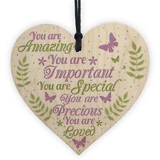 Inspirational Sign Best Friend Gift Wood Heart Mum Baby Daughter Birthday GIFT