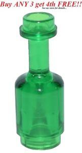 ☀️LEGO Minifig Utensil Bottle Trans Green Clear Bottle Jar Flask Minifigure Bar