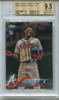 2018 Topps Chrome Update Ronald Acuna RC BGS 9.5 GEM MINT plus W/ 1x10, rookie