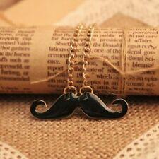 "necklace with pendant ""Moustache"" Fashion jewellery Retro Vintage"