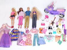 MATTEL Barbie Bambole Bundle vestiti accessori SCOOTER BAMBOLOTTO KEN